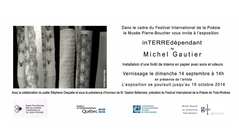 Vernissage le 14 septembre à 14h.