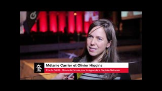 Mélanie Carrier et Olivier Higgins, Prix du CALQ - Capitale-Nationale