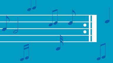 Portée avec notes de musique