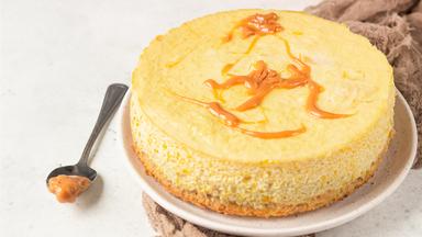 Gâteau au fromage à la citrouille et au caramel
