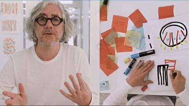 L'Expo idéale d'Hervé Thullet - Gouache, feutres, ciseaux: c'est tout ce qu'il f