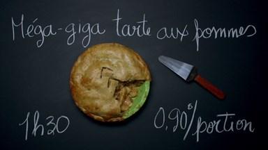 Méga-giga tarte aux pommes