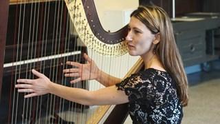 La harpe d'Annabelle Renzo sème du bonheur!