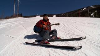 Guillaume Arsenault en ski au Mont Miller
