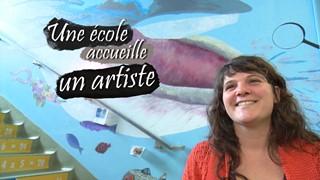 Une école accueille un artiste | Plongez au coeur du Saint-Laurent