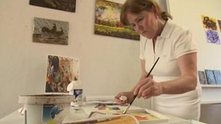 Micheline Falardeau à la biennale internationale d'art miniature