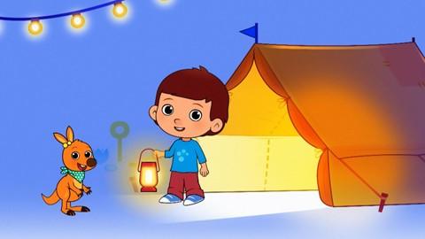 Camping dans le jardin