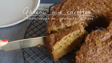 Gâteau aux carottes (sans oeufs ni produits laitiers)