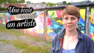 Une école accueille un artiste | Andréane et ses 600 collaborateurs