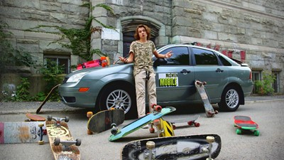 Sam-Éloi Girard ne peut pas vivre sans s'acheter de skates!