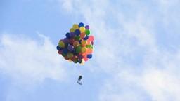 Voler à 4 km d'altitude avec des ballons d'helium