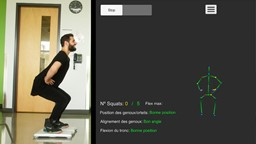 Un avatar qui corrige les squats