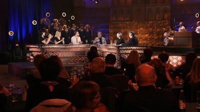 Émile Bilodeau, Lucien Bouchard, Marie-Ève Dicaire, Pénélope McQuade et Luc Vincent