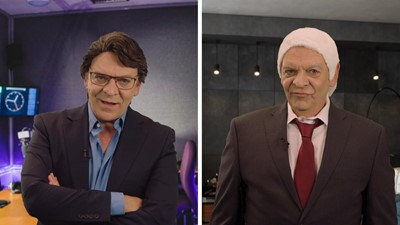 Entrevue de Marc Labrèche avec Bernard Drainville et Luc Lavoie