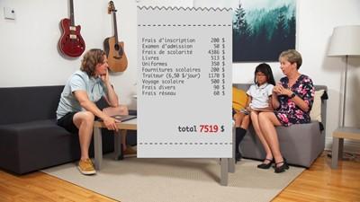 L'école secondaire privée : on s'informe des tarifs par année.
